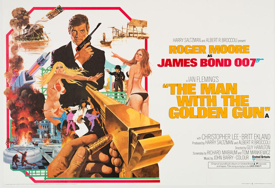 Roger Moore tackled Christopher Lee's Scaramanga in a fun, stylish, but cartoony romp. (Eon/MGM)