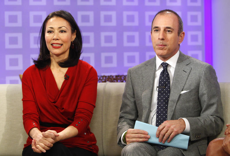 "TODAY -- Pictured: (l-r) Ann Curry and Matt Lauer appear on NBC News' ""Today"" show -- (Photo by: Peter Kramer/NBC/NBC Newswire/NBCUniversal via Getty Images)"