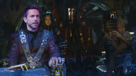 """Forget Fandral, I'm Star-Lord now."" — Zachary Levi in a spaceship"