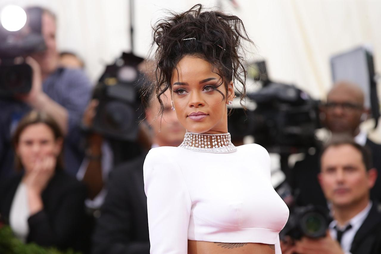 """NEW YORK, NY - MAY 05: Rihanna attends the """"Charles James: Beyond Fashion"""" Costume Institute Gala at the Metropolitan Museum of Art on May 5, 2014 in New York City. (Photo by Neilson Barnard/Getty Images)"""