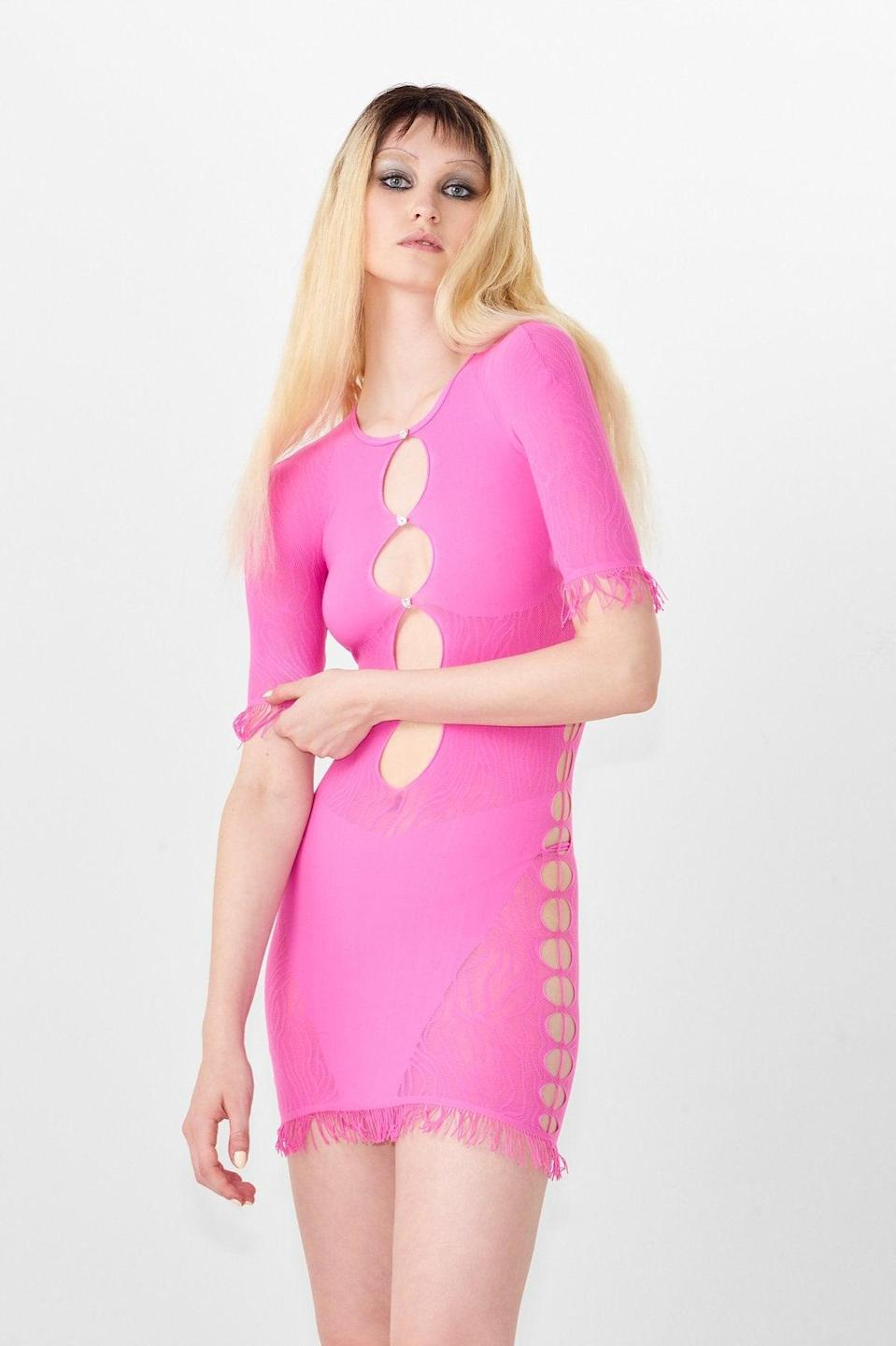 """<em>The prices on Poster Girl's website are in GBP, while our prices are listed in USD.</em><br><br><strong>Poster Girl</strong> Miranda Dress, $, available at <a href=""""https://go.skimresources.com/?id=30283X879131&url=https%3A%2F%2Fposter-girl.com%2Fcollections%2Fnew-in%2Fproducts%2Fmiranda-dress-2"""" rel=""""nofollow noopener"""" target=""""_blank"""" data-ylk=""""slk:Poster Girl"""" class=""""link rapid-noclick-resp"""">Poster Girl</a>"""