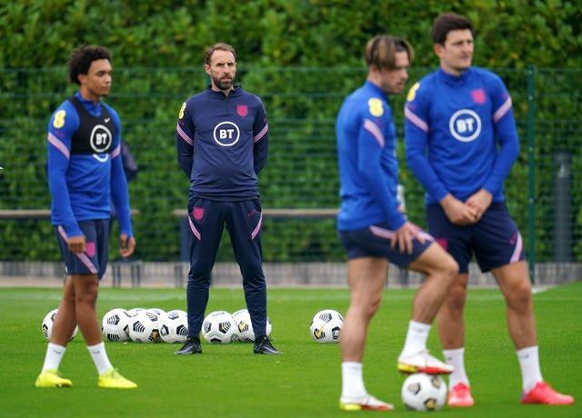Gareth Southgate casts his eye over England training ahead of Sunday's meeting with Andorra