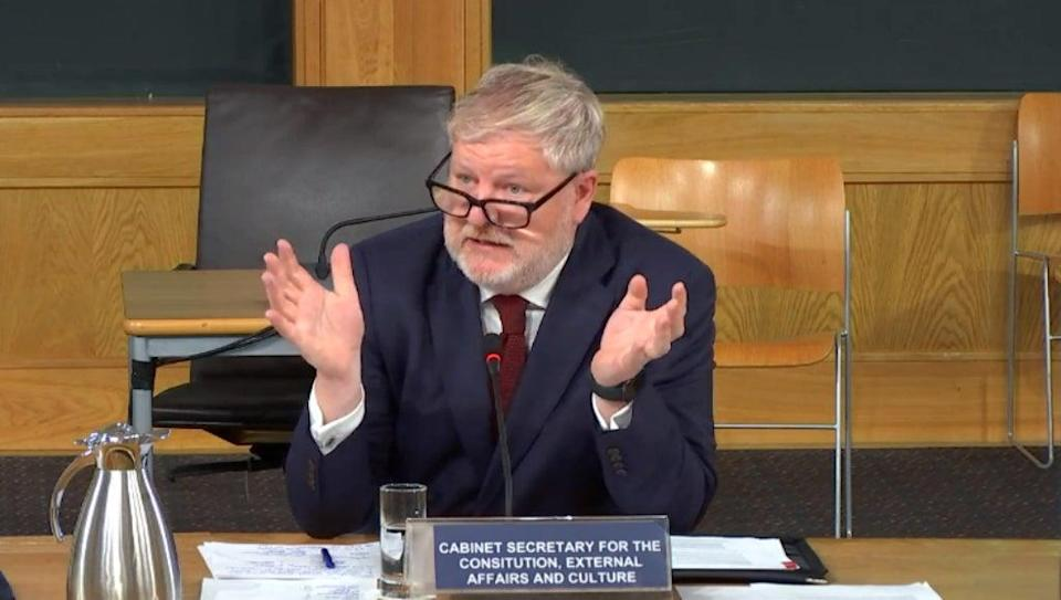 Angus Robertson said the engagement between the Scottish and UK governments is 'suboptimal' (Scottish Parliament TV/PA)