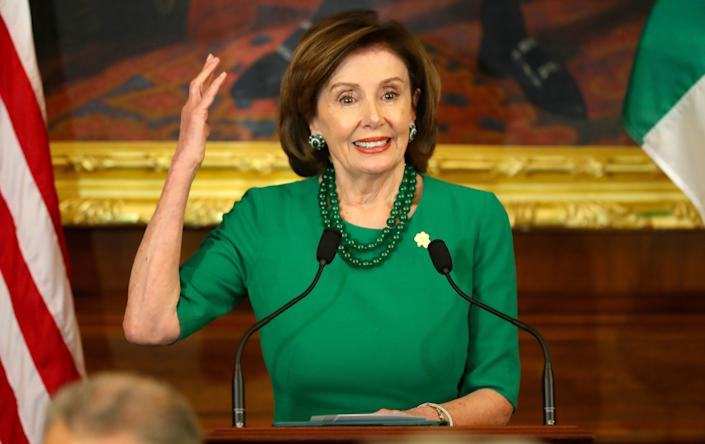 Nancy Pelosi, speaker of the United States House of Representatives, during the Speaker's luncheon on Capitol Hill. (Photo: Niall Carson - PA Images via Getty Images)