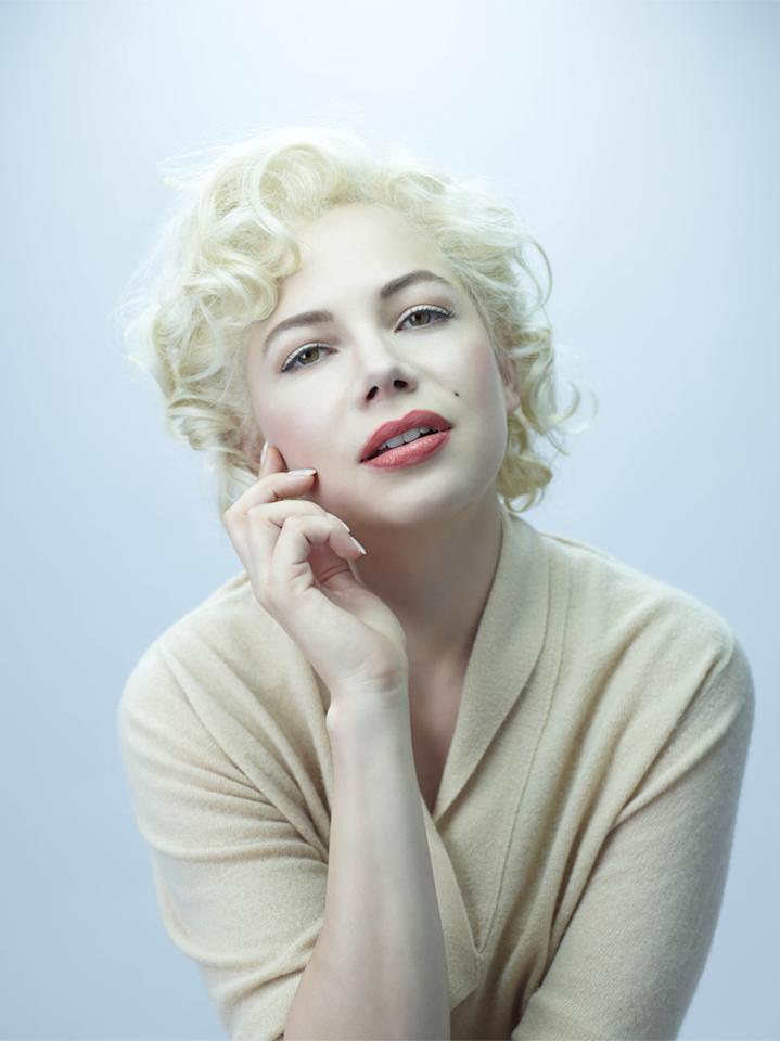"Michelle Williams earned an Oscar nod for her portrayal of Marilyn Monroe in ""<a href=""http://movies.yahoo.com/movie/my-week-with-marilyn/"">My Week With Marilyn</a>."""