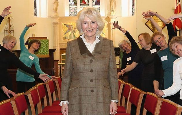 Strangely, Camilla never took her coat off. Source: Getty