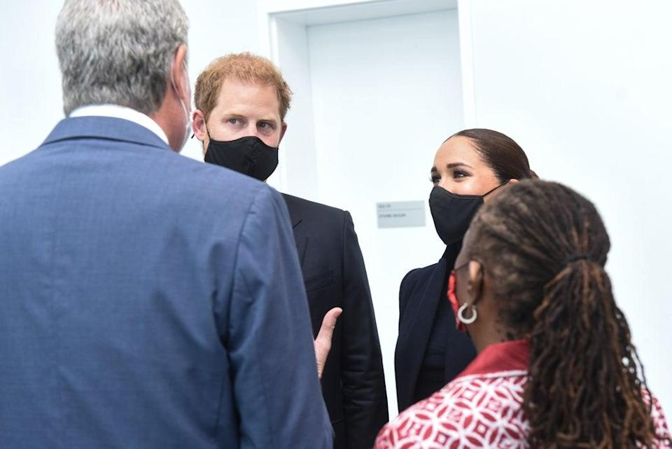 The Sussexes chatting with Mayor of New York Bill de Blasio and First Lady Chirlane McCray (Office of the Mayor of New York/PA) (PA Media)