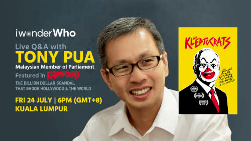 """Watch Tony Pua discuss """"The Kleptocrats"""" this Friday."""