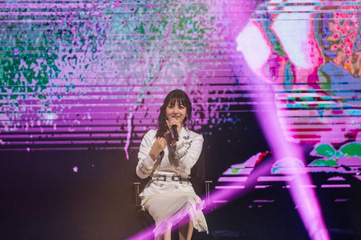 TWICE's leader Jihyo at their first concert in Singapore (Photo: ONE Production)