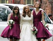 """<p>Weddings involve many responsibilities far beyond the ones getting married saying the whole """"I do"""" thing. Maybe you're a guest and you have to get a <a href=""""https://www.womenshealthmag.com/life/a19906620/wedding-registry-checklist/"""" rel=""""nofollow noopener"""" target=""""_blank"""" data-ylk=""""slk:wedding gift"""" class=""""link rapid-noclick-resp"""">wedding gift</a>, or you're a sibling prepping the *perfect* speech. And for some, you have to be on ~bridesmaid duty~, which may mean makeup touch ups, matching dresses, holding up a gown for your gal pal during bathroom breaks from the dance floor, and endless support for your BFF. </p><p>Just ask these 39 A-listers—they have all stepped up the plate at least once to be in a wedding party for a loved one, and they looked *so* glam and full of love while doing it.</p>"""