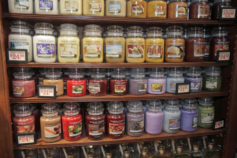Yankee Candles for sale at Cracker Barrel Old Country Store. (Photo by: Jeffrey Greenberg/Universal Images Group via Getty Images)