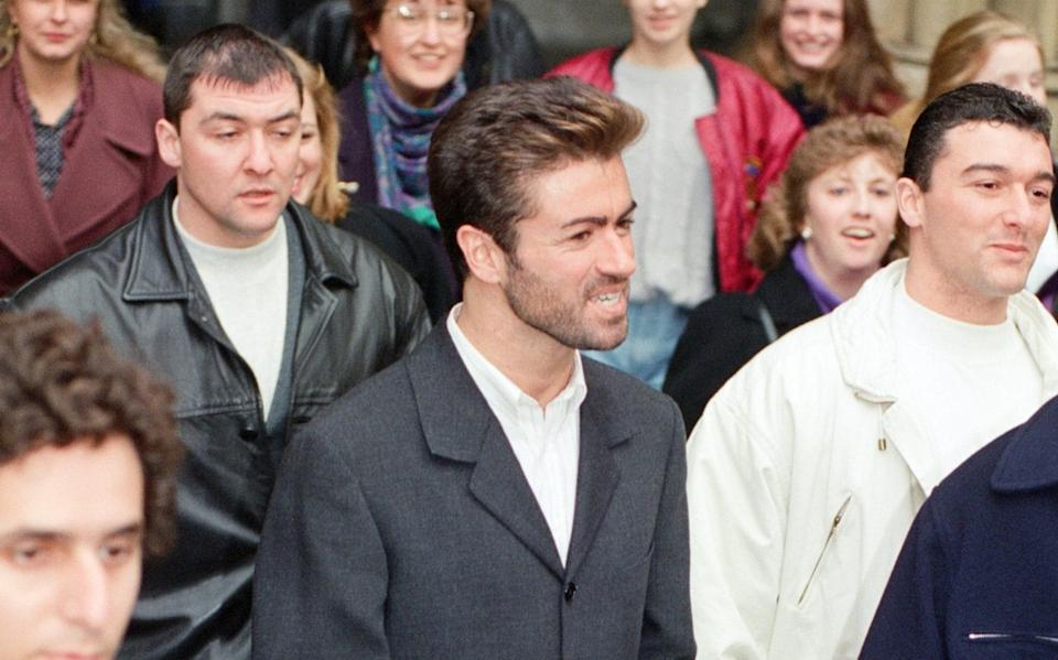 The singer leaving the High Court in 1993 - Mirrorpix