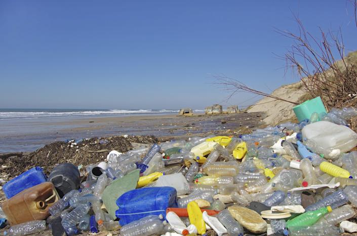 Plastic waste is a major and growing problem in the world's oceans. (Photo: Sablin via Getty Images)