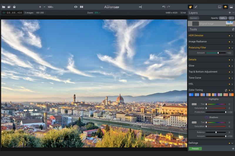 Aurora HDR crafts a digital polarizing filter in a major software update