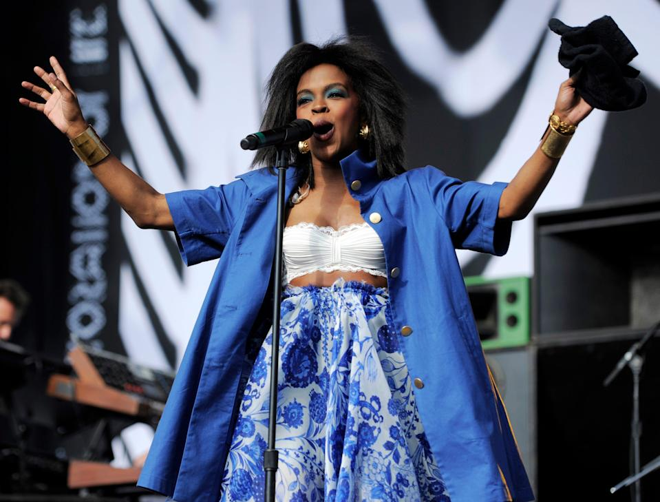 Singer Lauryn Hill performs in Los Angeles.