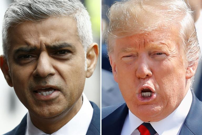 Sadiq Khan brands Donald Tump a 'poster boy for racists' as feud reignites amid London stabbings