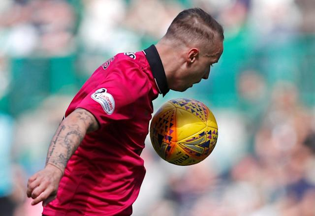 Soccer Football - Scottish Premiership - Hibernian v Celtic - Easter Road, Edinburgh, Britain - April 21, 2018 Celtic's Leigh Griffiths in action REUTERS/Russell Cheyne