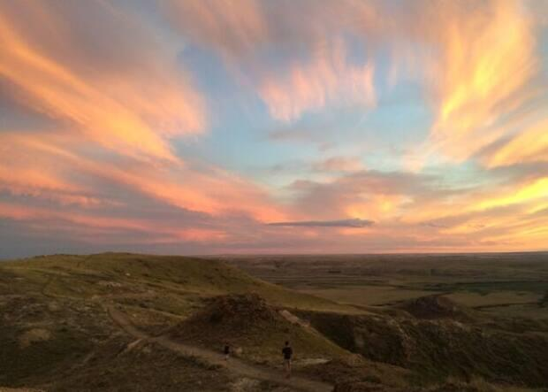 A sunset was captured while on a hiking trail in Saskatchewan.