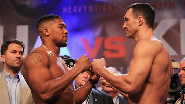 """Anthony Joshua is """"very confident"""" he will beat Wladimir Klitschko after weighing in heavier than the veteran."""