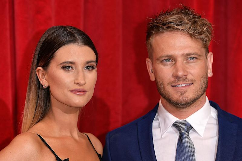 MANCHESTER, ENGLAND - JUNE 03: Charley Webb and Matthew Wolfenden attend The British Soap Awards at The Lowry Theatre on June 3, 2017 in Manchester, England. The Soap Awards will be aired on June 6 on ITV at 8pm. (Photo by Jeff Spicer/Getty Images)