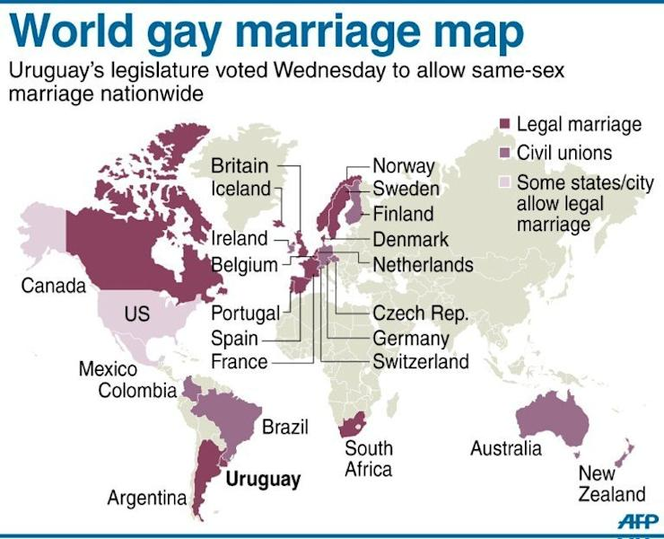 The map of gay marriage
