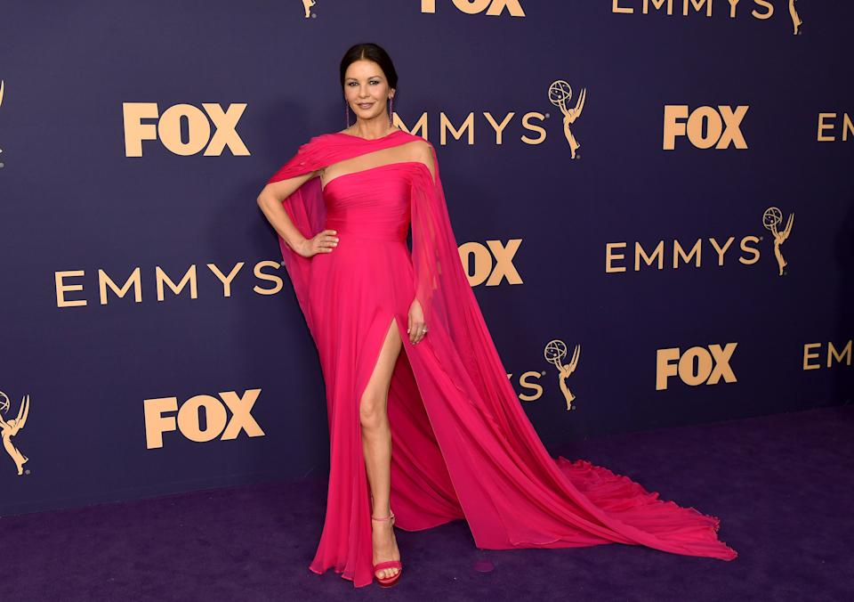 LOS ANGELES, CALIFORNIA - SEPTEMBER 22: Catherine Zeta-Jones attends the 71st Emmy Awards at Microsoft Theater on September 22, 2019 in Los Angeles, California. (Photo by Matt Winkelmeyer/Getty Images)