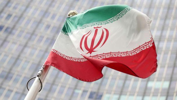 PHOTO: The Iranian flag flutters in front the International Atomic Energy Agency (IAEA) headquarters in Vienna, Austria, on Wednesday, July 10, 2019. (Lisi Niesner/Reuters)
