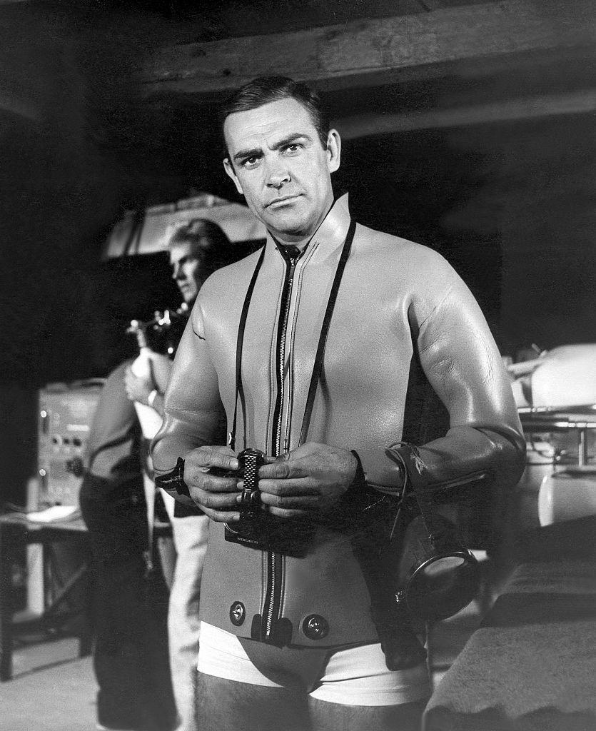 <p>Sean Connery on the set of 'Thunderball', 1965. </p>