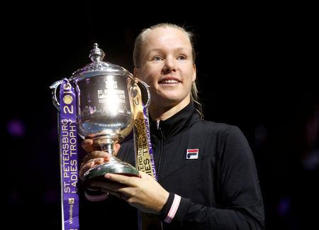 Kiki Bertens fights back against Donna Vekic to clinch St Petersburg title