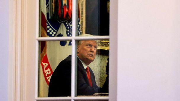 PHOTO: President Donald Trump sits in the Oval Office of the White House in Washington, Nov. 13, 2020. (Carlos Barria/Reuters)