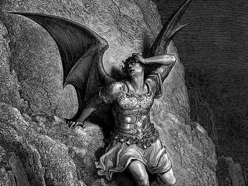 An depiction of Satan from a 19th century illustration of Paradise Lost by John Milton. Most satanists do not actually worship Satan
