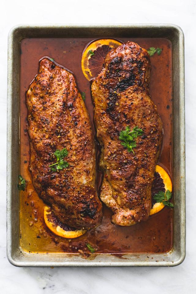 "<p>You deserve something fancy on a weeknight.</p><p>Get the recipe from <a rel=""nofollow"" href=""http://www.delish.com/cooking/recipe-ideas/recipes/a52049/glazed-pork-tenderloin-recipe/"">Delish</a>.</p>"