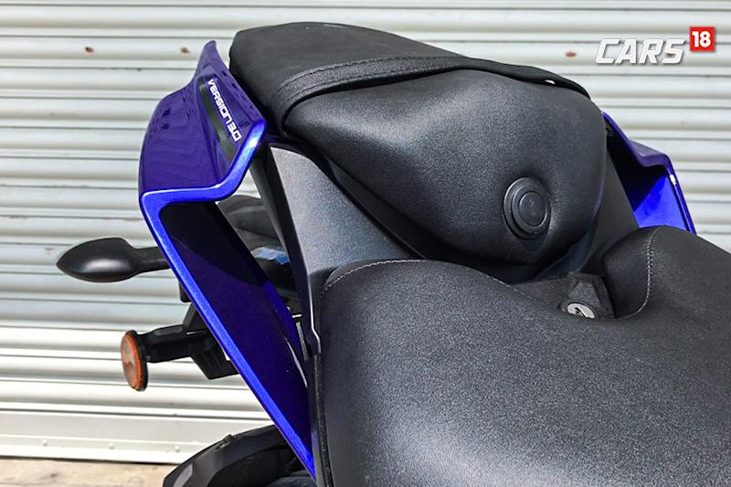 Yamaha-R15-V3.0-First-Ride-Review-Rear-Seat