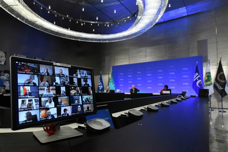 Thursday's FIFA Council meeting was held by video-conference because of the coronavirus pandemic