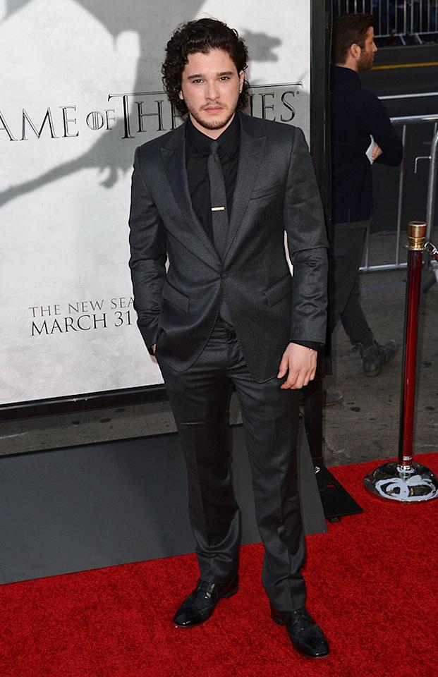"Kit Harington arrives at the premiere of HBO's ""Game of Thrones"" Season 3 at TCL Chinese Theatre on March 18, 2013 in Hollywood, California."
