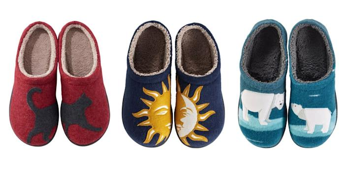 """Your friend has to wake up from their holiday hibernation at some point and they'll love slipping into these slippers. <strong><a href=""""https://fave.co/2LuaTsG"""" rel=""""nofollow noopener"""" target=""""_blank"""" data-ylk=""""slk:Get a pair for $64 at L.L.Bean"""" class=""""link rapid-noclick-resp"""">Get a pair for $64 at L.L.Bean</a></strong>.&nbsp;"""