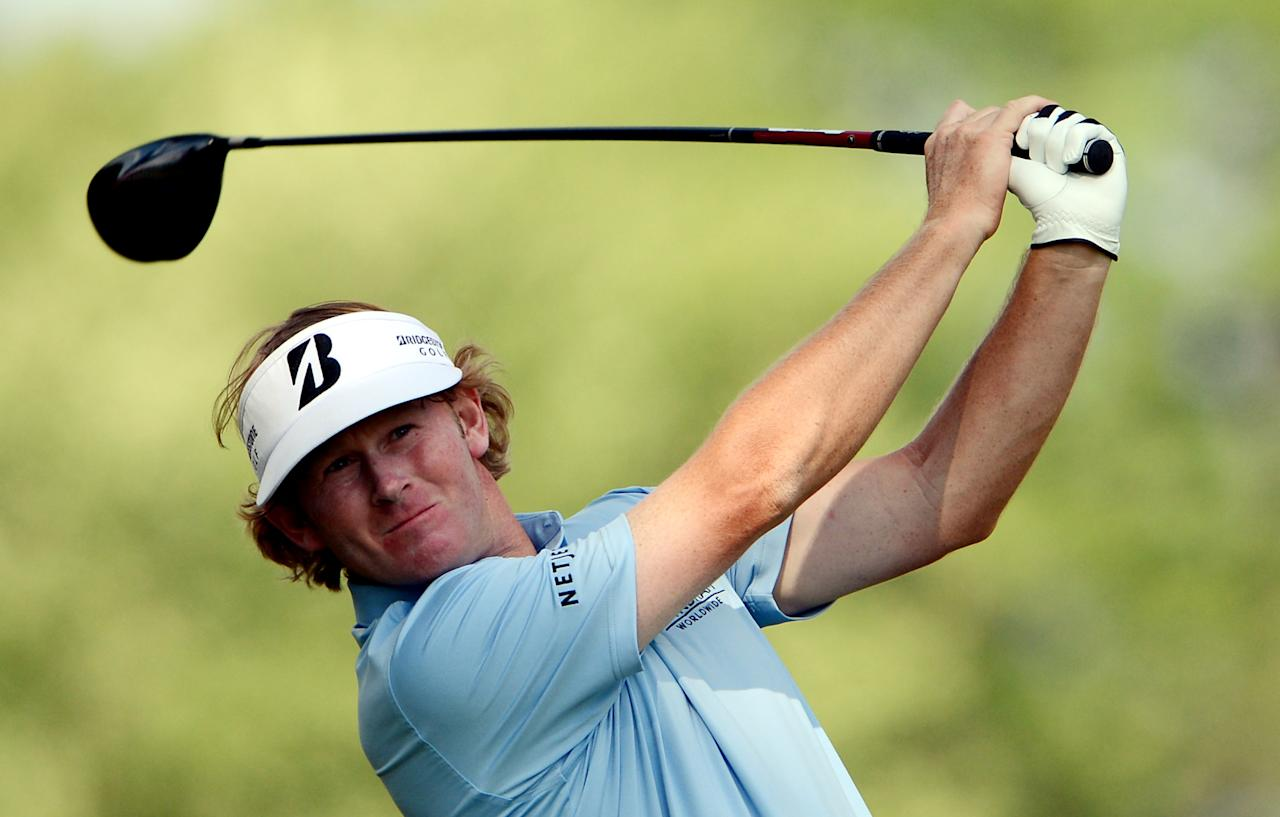 ARDMORE, PA - JUNE 14:  Brandt Snedeker of the United States hits his tee shot on the fifth hole during Round Two of the 113th U.S. Open at Merion Golf Club on June 14, 2013 in Ardmore, Pennsylvania.  (Photo by David Cannon/Getty Images)