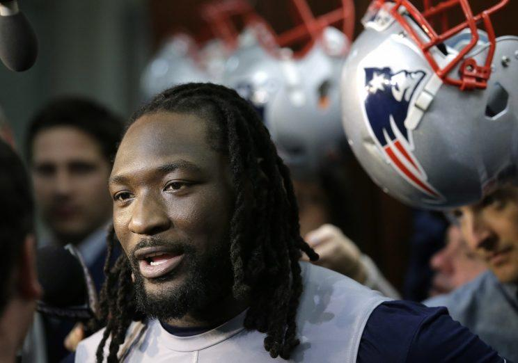 LeGarrette Blount was given a $1.1 million tender by the Patriots. (AP)