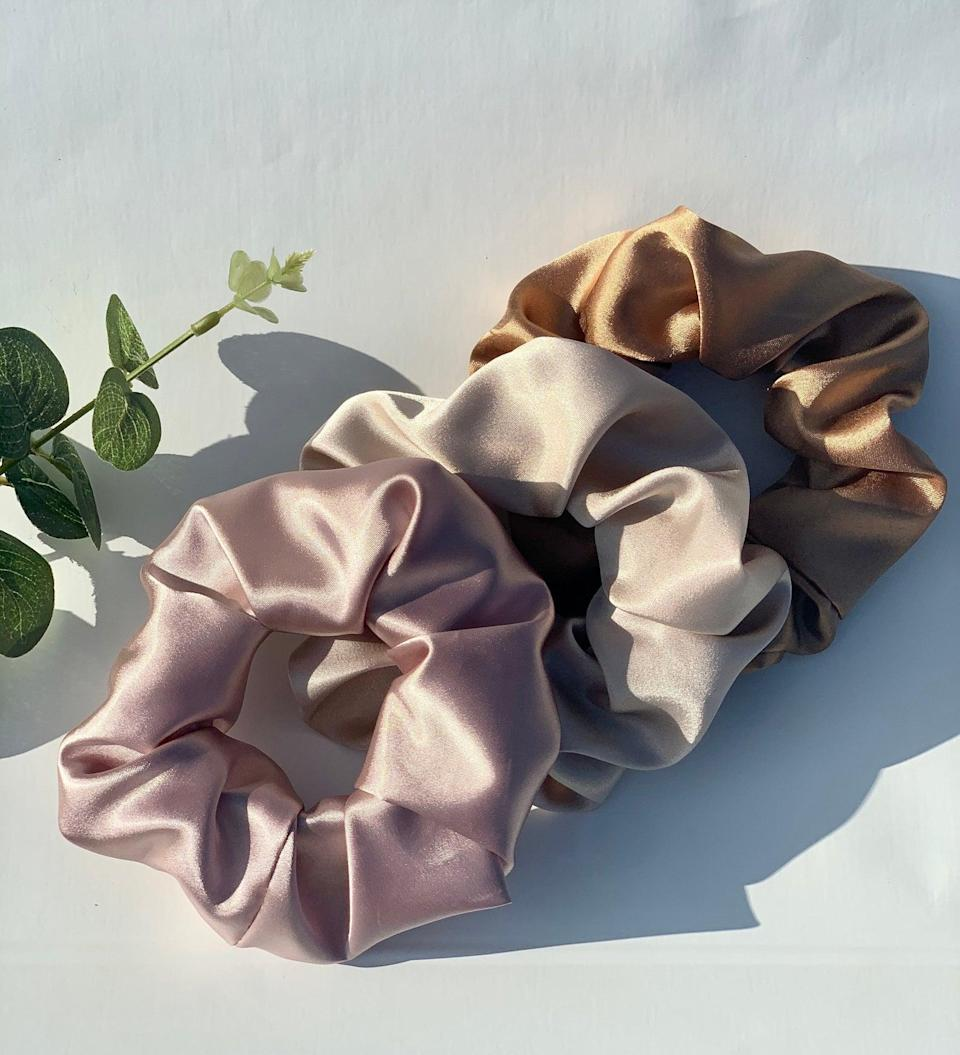 <p>These <span>Silky Satin Scrunchies</span> will add a touch of elegance to any look ($5 each).</p>