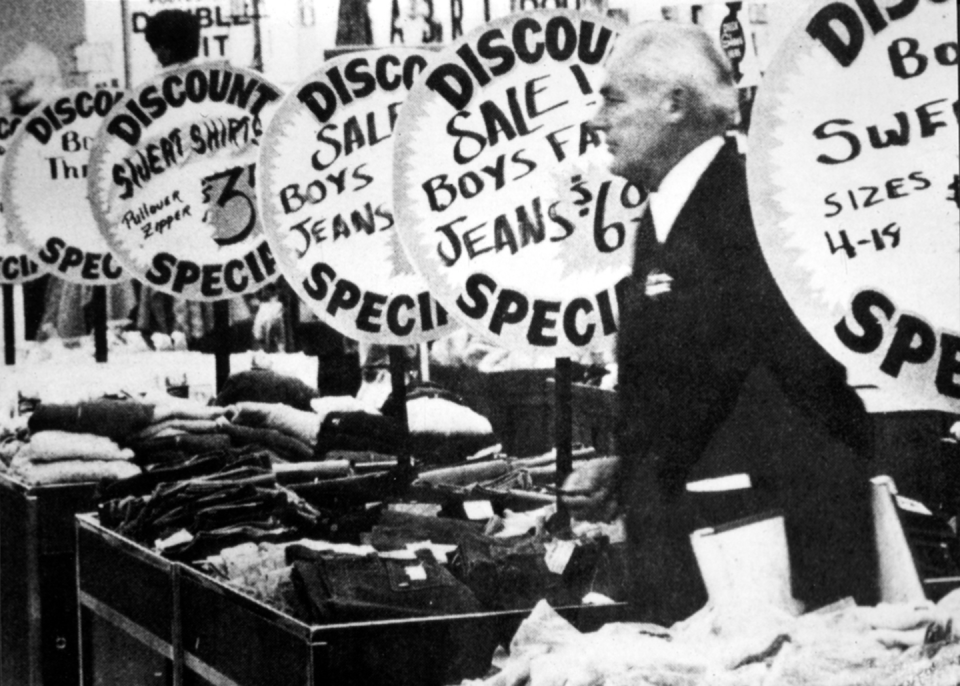 """<p>""""I knew we were onto something. I knew in my bones it was going to work."""" —Sam Walton, pictured inside the first Wal-Mart<br></p><p>Photo: Courtesy of The Walmart Museum</p>"""