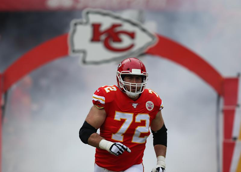 Eric Fisher was living his best life against the Texans in the AFC divisional round. (Photo by Scott Winters/Icon Sportswire via Getty Images)