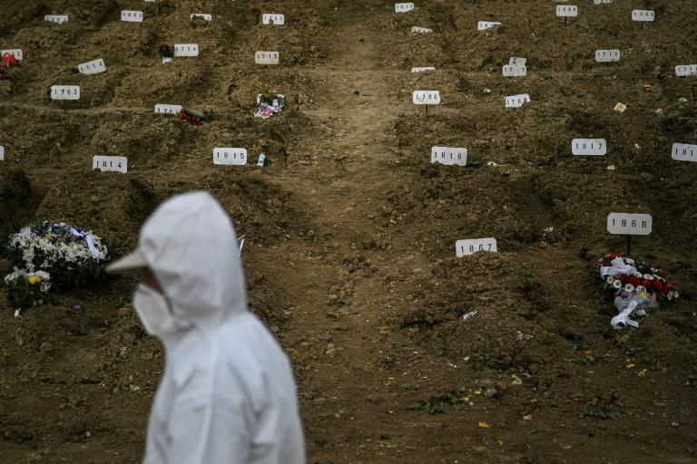 Many graves of suspected Covid victims are marked only by a number
