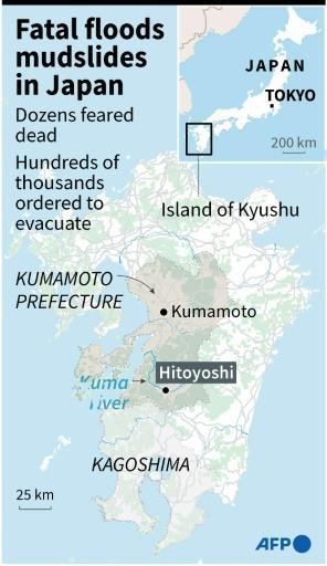 Japan often suffers deadly floods during its rainy season