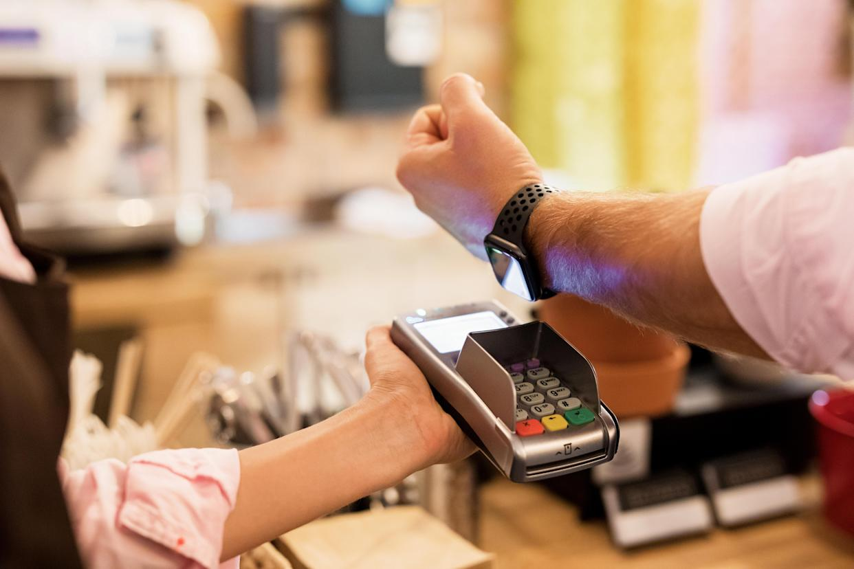 Wearables are an easy way to pay for items securely. (Photo: Getty)