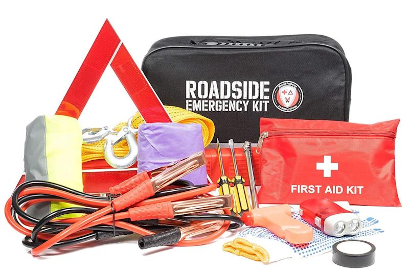 Roadside Assistance Car Emergency Kit (Photo: Walmart)