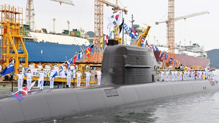 Seoul's missile was fired underwater from South Korea's newly commissioned submarine Ahn Chang-ho (AFP/Handout)