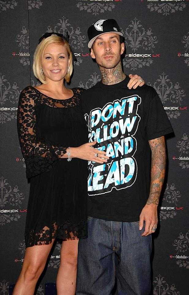 """Paris Hilton's arch enemy Shanna Moakler and her on-again/off-again husband Travis Barker seem to have patched things up...for the moment. Scott Kirkland/<a href=""""http://www.infdaily.com"""" target=""""new"""">INFDaily.com</a> - October 16, 2007"""