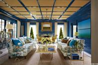 <p>One of the best ways to bring more light into a room is with a high-gloss paint color, and a ceiling is the perfect spot to experiment with this design choice. A glossy ceiling finish reflects light well, and it adds an unexpected element to a room.</p>