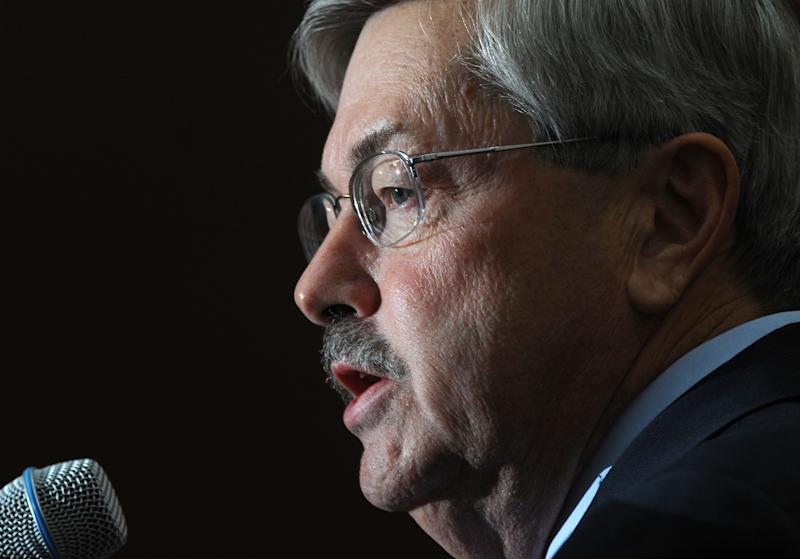 Terry Branstad, the former Republican governor who stepped down this year to become ambassador to China, was openly hostile to the Affordable Care Act. (Steve Pope/Getty Images)