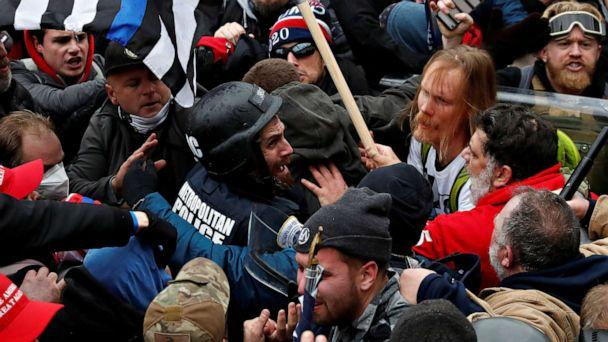 PHOTO: Pro-Trump supporters clash with police at the Capitol building in Washington on Jan. 6, 2021. (Shannon Stapleton/Reuters)